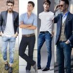 Classy combinations while wearing a blue denim for men