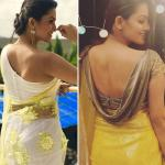 Latest saree blouse back neck designs in trend