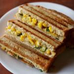 Healthy and nutrition recipe: Corn Cheese Sandwich
