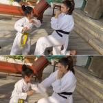 Isha Koppikar teaches daughter Korean martial art