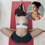 Esha Gupta shows how to do Adho Mukha Sukhasana to stay fit at home