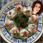 Sev puri with cucumber slices recipe by Twinkle Khanna