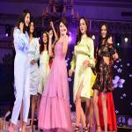 Models presented the upcoming fashion trends on the ramp along with cricketers