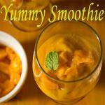Vrat Dessert: Mango Almond Smoothie