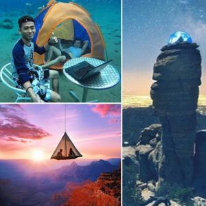 Hilarious pictures post by travelers at very dangerous places