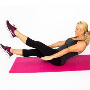 Get flat belly at home with these exercises