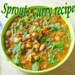 How to make sprouts curry at home