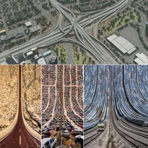 Surprising portraits of roads and tracks, you've never seen until now