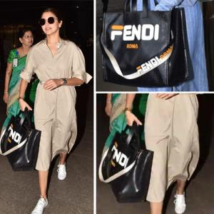 Celebs obsessed with airport looks! Anushka Sharma wore tote bag worth at Rs 1,80,000