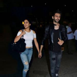 Viral photo: Sara Ali Khan and Kartik Aaryan spotted holding hands