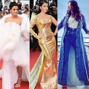 cc7b92c740b Cannes 2019  Aishwarya Rai look stunning as she walks the red carpet in 7  attire