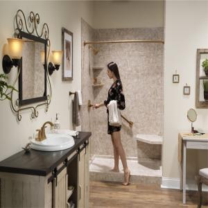 Make your bathroom look more expensive in low budget