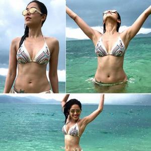 Nushrat Bharucha becomes beach Girl, raises the temperature in bikini