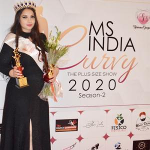 Akanksha Gupta crowned Ms India Curvy 2020