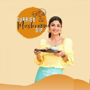 Shilpa Shetty share a recipe of healthy mushroom dip