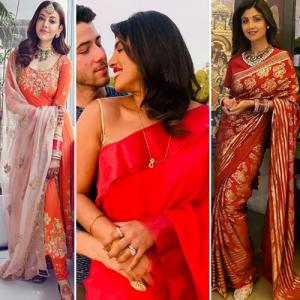 Who Wore What: Priyanka, Shilpa, Kajol look gorgeous in red at Karwa Chauth