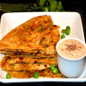 Stuffed Green Peas Paratha Recipe