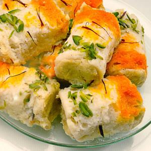 Learn to make this delicacy Malai Rolls