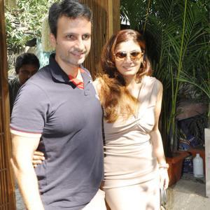 Anil natasha thadani and sippy Raveena gives