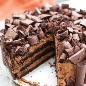 Chocolate Mousse Meringue Layer Cake Recipe