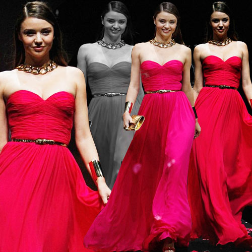 Steal Miranda's hot pink Michael Kors gown , miranda kerr hot pink michael kors gown,  miranda kerr,  victoria's secret angel,  michael kors jet set experience fashion show in shanghai,  china,  hollywood,  fashion,  fashion trends 2014