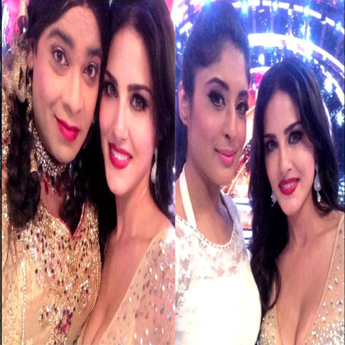 Sunny 's selfie moment in Jhalak Dikhhla Jaa 7, sunny leone's selfie moment in jhalak dikhhla jaa 7: with sophie choudry,  sunny leone,  sunny leone's tv show,  jhalak dikhhla jaa 7,  tv gossip,  tv buzz,  tv gossip,  tv serial news,  colors serial news,  sophie choudry,  jhalak dikhhla jaa 7,  bollywood celebrities,  ,  bollywood celebrities comes on tv serial