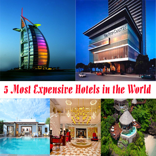 Top 5 most expensive hotels in the world slide 1 for Luxurious hotels in the world