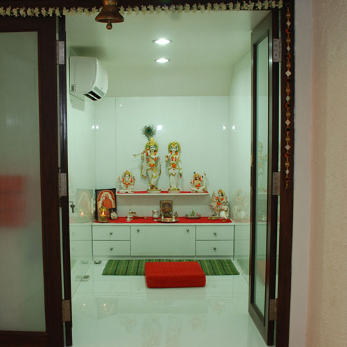 Pooja Mandapam With Doors Pooja Room Designs In Hall Pooja