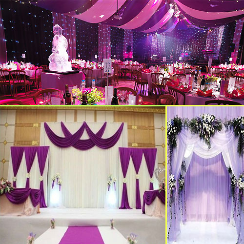 Wedding hall decoration ideas slide 2 for Wedding hall decoration items