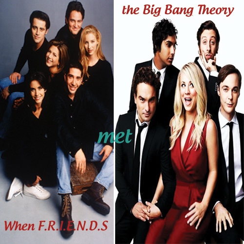 When F.R.I.E.N.D.S bumped into The Big Bang Theory, when friends bumped into the big bang theory,  friends stars meet the big bang theory cast,  friends reunion,  friends and bbt,  popular sitcom friends and bbt cast together,  friends and bbt in a frame,  entertainment,  hollywood,  ifairer
