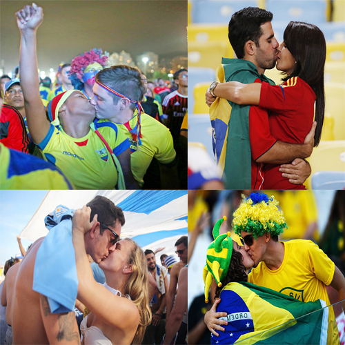 FIFA World Cup: It's All About Passion, fifa,  football,  fifa fever,  fifa world cup 2014,  arena de sao paulo,  chile,  group,  south american,  brazil,  fifa intimate moments,  kissing in football,  smooch,  intimate smooches in fifa,  fans kissing football players,  fans kissing,  fans intimate moments with football players