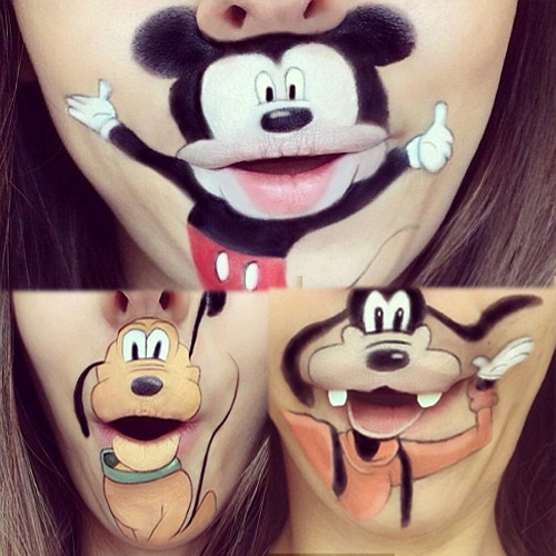 WOW! Funny Cartoon Make-up, laura jenkinson,  funny make up,  amazing cartoon make up,  cartoon make up,  make up artist,  cartoon characters,  portraits,  paintings,  cartoon characters,  ifairer